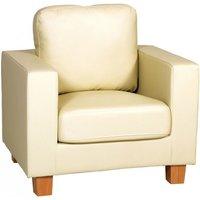 Chesterfield 1 Seater Sofa PU - DESIGNER SOFAS 4 U