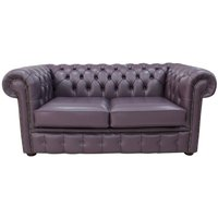 Chesterfield 2 Seater Hemmingway Blueberry Leather Sofa Offer - DESIGNER SOFAS 4 U