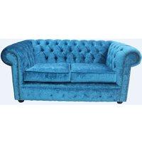 Designer Sofas 4 U - Chesterfield 2 Seater Settee Pastiche Teal Velvet Sofa Offer