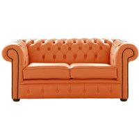 Chesterfield 2 Seater Shelly Firestone Leather Sofa Settee