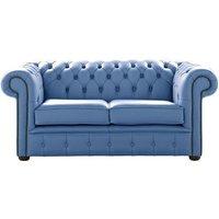 Designer Sofas 4 U - Chesterfield 2 Seater Shelly Iceblast Leather Sofa Settee