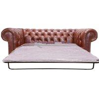 Designer Sofas 4 U - Chesterfield 2 Seater Sofa Bed Old English Chesnut