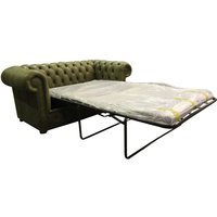 Designer Sofas 4 U - Chesterfield 2 Seater Sofa Bed Selvaggio Sage Green Leather