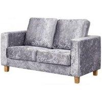 Chesterfield 2 Seater Sofa Crushed Velvet Silver - DESIGNER SOFAS 4 U
