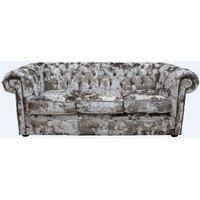 Chesterfield 3 Seater Settee Lustro Charm Velvet Sofa Offer