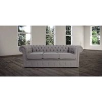 Chesterfield 3 Seater Settee Proposta Steel Grey Fabric Sofa Offer