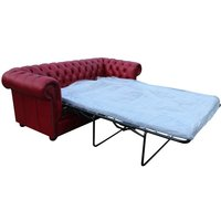 Chesterfield 3 Seater Settee Sofa Bed Old English Gamay - DESIGNER SOFAS 4 U