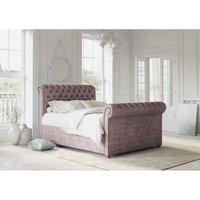 Chesterfield Blush Alaska Double Bed Frame