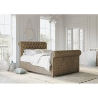 Chesterfield Mink Alaska Double Bed Frame