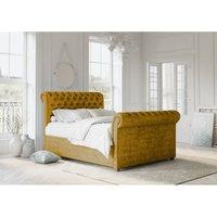 Chesterfield Mustard Alaska Double Bed Frame