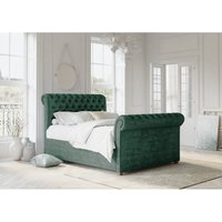 Chesterfield Teal Alaska Double Bed Frame