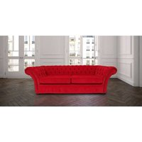 Designer Sofas 4 U - Chesterfield Balmoral 3 Seater Sofa Settee Pimlico Rouge Red Fabric