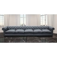 Chesterfield Bespoke 15 foot Settee Leather Sofa Offer - DESIGNER SOFAS 4 U