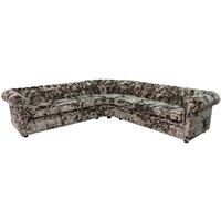 Chesterfield Corner Sofa Unit 3 Seater + Corner + 3 Seater Lustro Bronze Velvet - DESIGNER SOFAS 4 U