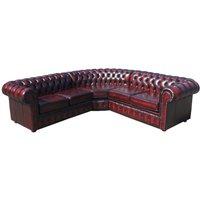 Designer Sofas 4 U - Chesterfield Corner Sofa Unit Cushioned (with arm), Leather Sofas, Traditional Sofas