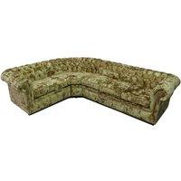 Chesterfield Crystal Velvet 3 Seater + Corner + 2 Seater Sofa Lustro Gilded - DESIGNER SOFAS 4 U