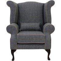 Designer Sofas 4 U - Chesterfield Edward Wool Tweed Wing chair | DesignerSofas4U
