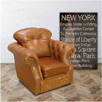 Designer Sofas 4 U - Chesterfield Era High Back Wing Chair Oil Pull Up Leather UK Manufactured Armchair