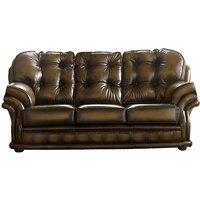 Chesterfield Handmade Knightsbridge 3 Seater Sofa Antique Tan Leather