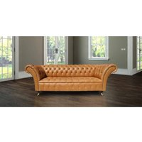 Designer Sofas 4 U - Chesterfield Lawrence 3 Seater Sofa Settee Old English Buckskin Leather