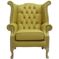 Chesterfield Queen Anne High Back Wing Chair Shelly Deluca