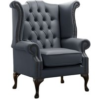 Chesterfield Queen Anne High Back Wing Chair Shelly Knight
