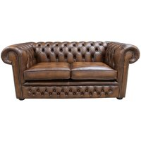 Chesterfield Winchester 2 Seater Antique Tan Leather Sofa Settee Offer - DESIGNER SOFAS 4 U