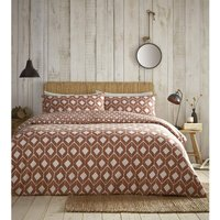 Chevron Terracotta Single Duvet Cover Set Bedding Quilt Bed Set Reversible