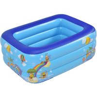 Child Swimming Pool Garden Outdoor Inflatable Paddling Pools 150x110x50cm