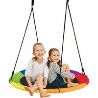 Costway - Children Nest Swing Padded Seat Set Hanging Tree Crows Seat Heights Adjustable