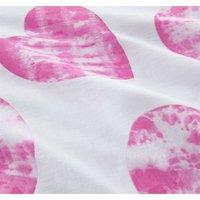 Childrens King Size Duvet Cover Set Girls Bedding Bed Set Tie-Dye Hearts Pink