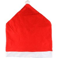 Christmas Chair Cover Table Runners Decoration Xmas Hat Pattern Design Foldable Design for Holiday Festival Present Gift Home Kitchen Daily