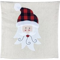 Christmas Pillow Covers Christmas Decorative Couch Pillow Cases Linen Pillow Square Cushion Cover Holiday Party Zipper Pillowcase for Sofa Couch Bed