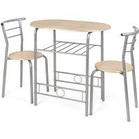 3 Piece Breakfast Table Set - Silver - CHRISTOW