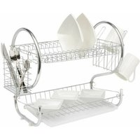 Chrome 2 Tier Chrome Plate Dish Drainer