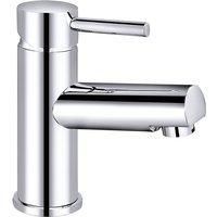 Chrome Basin Sink Mixer Tap Modern Bathroom Lever Faucet - NRG