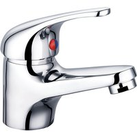 Chrome Basin Sink Mixer Tap Small Modern Bathroom Lever Faucet - NRG