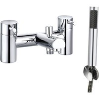 Modern Chrome Bath Shower Mixer Tap with Hand Held Shower Head Set - NRG