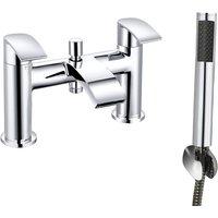 Chrome Bath Shower Mixer Tap Bathroom Faucet and Hand Held Shower Head Set
