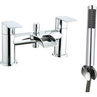 Waterfall Bath Shower Mixer Tap Chrome Hand Held Shower Head - NRG