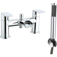 NRG - Waterfall Bath Shower Mixer Tap Chrome Hand Held Shower Head