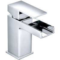 Basin Sink Mixer Tap Chrome Square Bathroom Lever Faucet