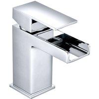 NRG - Square Bathroom Mixer Tap Chrome Basin Sink Lever Faucet