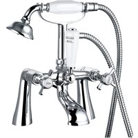 Traditional Bath Shower Filler Mixer Tap with Vintage Bathroom Hand Held Shower Head Set
