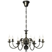 Clack 8-Light Candle Style Chandelier by Black - Lily Manor