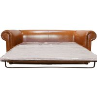 Classic Bruciato Leather Chesterfield Sofa Bed |DesignerSofas4U - DESIGNER SOFAS 4 U
