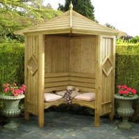 Shire - Classic Corner Arbour Garden Arch Seat Approx 4 x 4 Feet