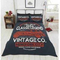 Classic Legend Classic Vintage Car King Size Duvet Cover Bedding Set - RAPPORT