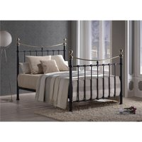 Classic Style Black Metal Bed Frame - Double 4ft 6