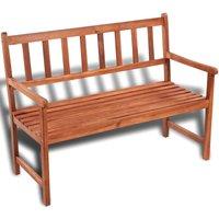 Garden Bench 120 cm Solid Acacia Wood - Brown - Vidaxl